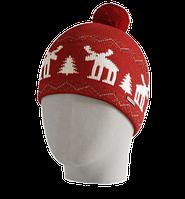Шапка мужская вязаная Oxygon Karelia красный/белый