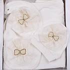 Нарядный набор с пледом для девочки с брошью из стразов и бусин., фото 4