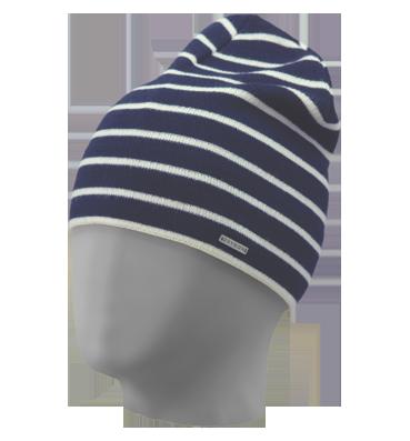 шапка мужская вязаная Oxygon Marcel синий белый в категории шапки