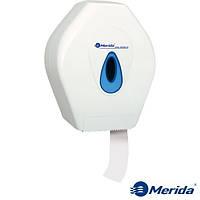 Держатель туалетной бумаги джамбо Mini из ударопрочного ABS пластика Merida Top (синяя капля), Англия