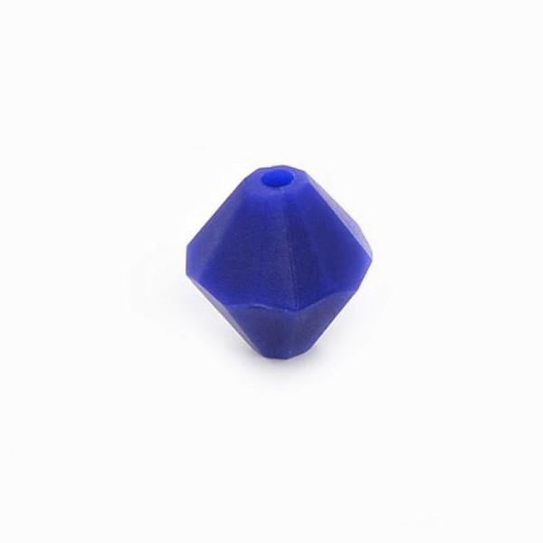 Алмаз (темно синий) , силиконовая бусина