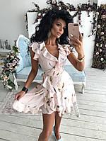 Молодежное платье с рюшами