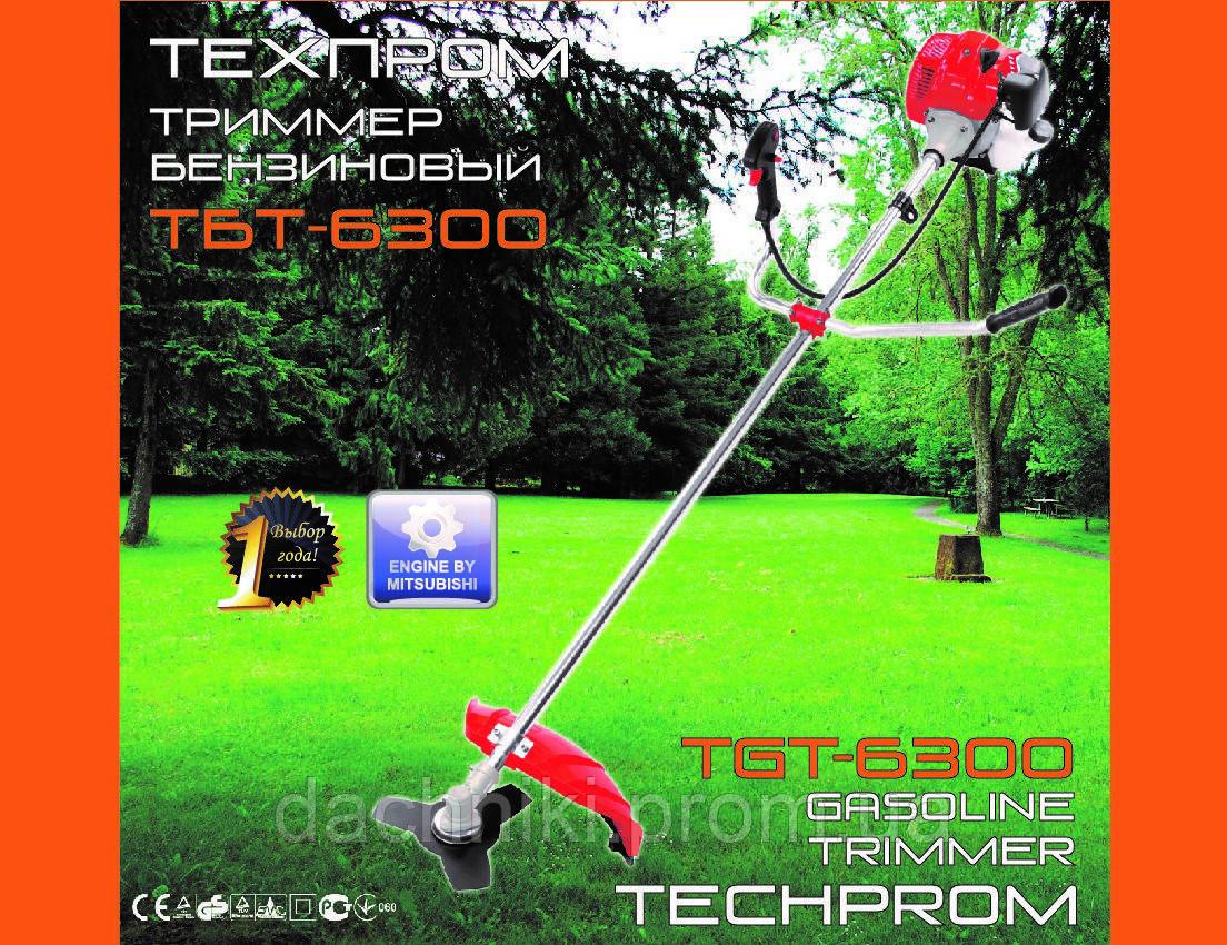 Бензокоса Техпром 6300 (1 дисков / 1 бабина)