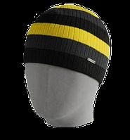 Шапка мужская вязаная Oxygon Reflection т. серый/серый/желтый