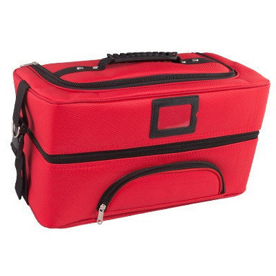 Бьюти Кейс бокс Саквояж профессиональный Сумка чемодан для мастера красная  Косметики органайзер