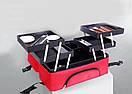 Саквояж тканевый Сумка чемодан для мастера сиреневый Бьюти Кейс бокс Косметики органайзер, фото 2