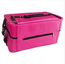 Саквояж тканевый Сумка чемодан для мастера сиреневый Бьюти Кейс бокс Косметики органайзер, фото 5