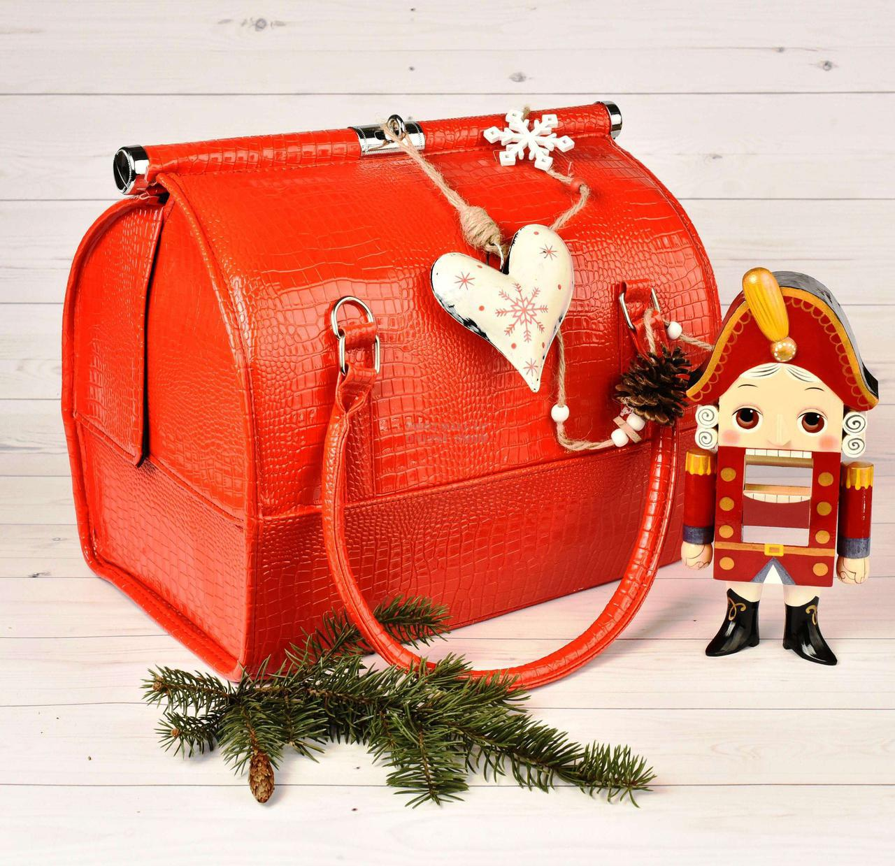 Бьюти Кейс для хранения косметики Сумка чемодан для мастера красная саквояж органайзер har/-051 dm