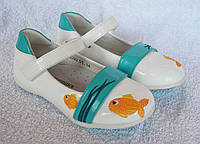Туфли для девочки. ТМ Шалунишка Ортопед. Модель 5593. Кожа, супинатор