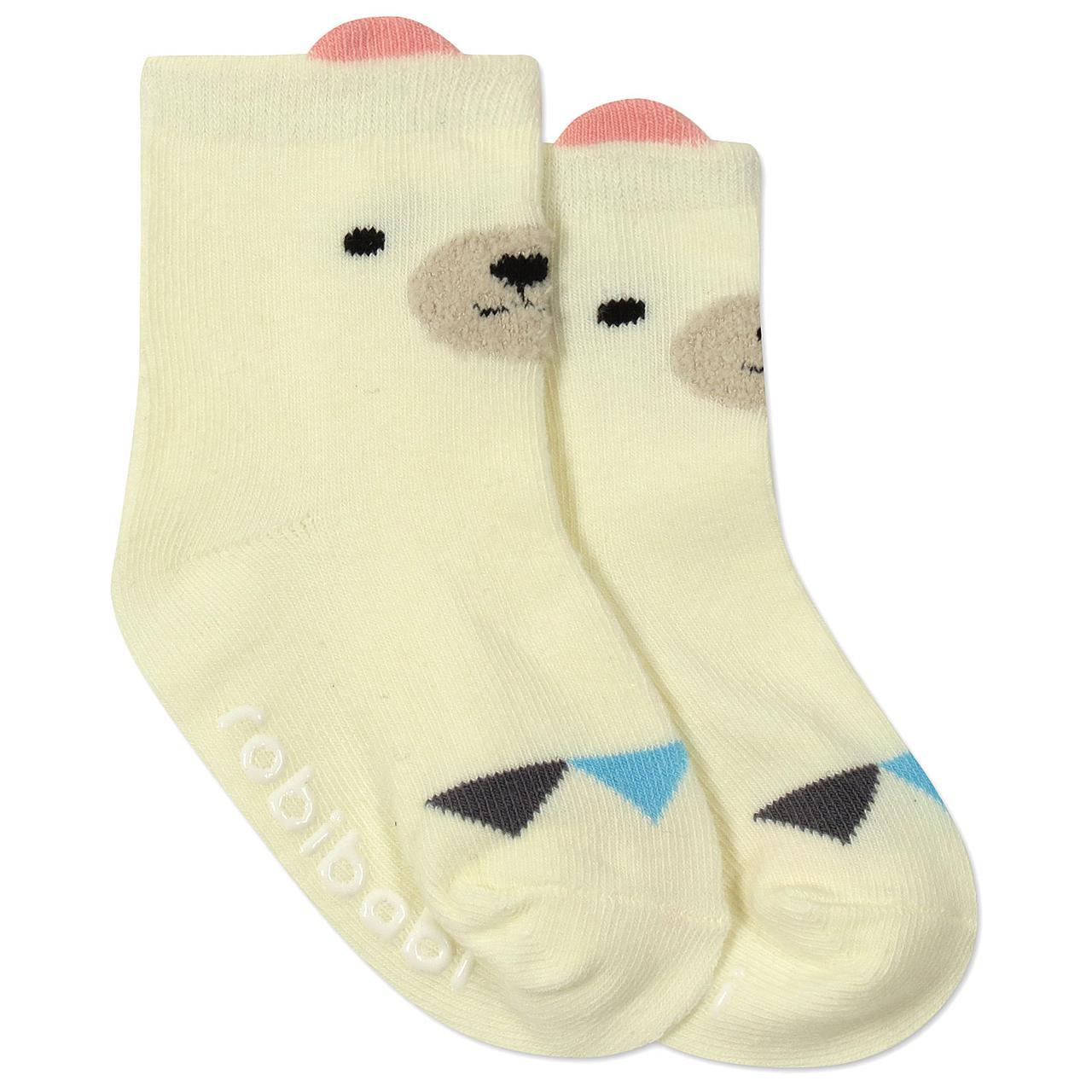 Детские антискользящие носки Белый мишка Berni