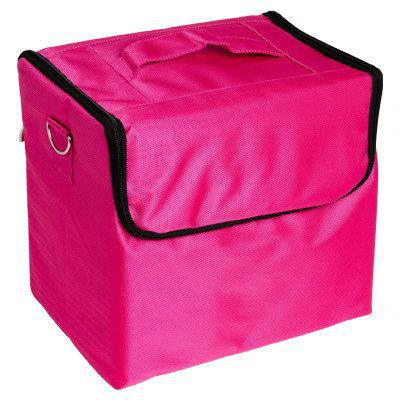 Бьюти Кейс бокс тканевый Сумка чемодан для мастера  Косметики органайзер розовая