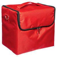 Саквояж тканевый Сумка чемодан для мастера Бьюти Кейс бокс Косметики органайзер красная, фото 1