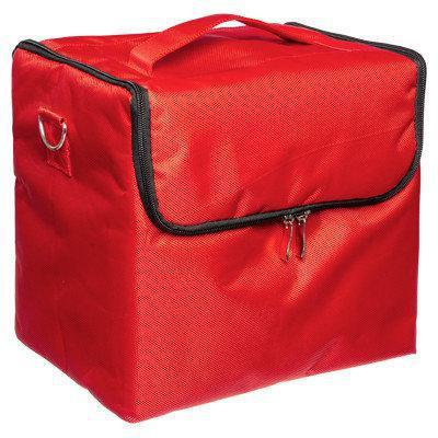 15c16377db46 Саквояж тканевый Сумка чемодан для мастера Бьюти Кейс бокс Косметики  органайзер красная - Интернет-магазин