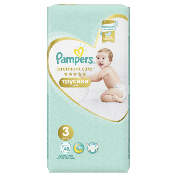 ff5ea6cc174b Подгузники-трусики Pampers Premium Care Midi 3 (6-11 кг), 48 шт ...