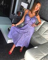 Платье Doratti Lolita красивая ажурная вязка миди разные цвета SMdor2358