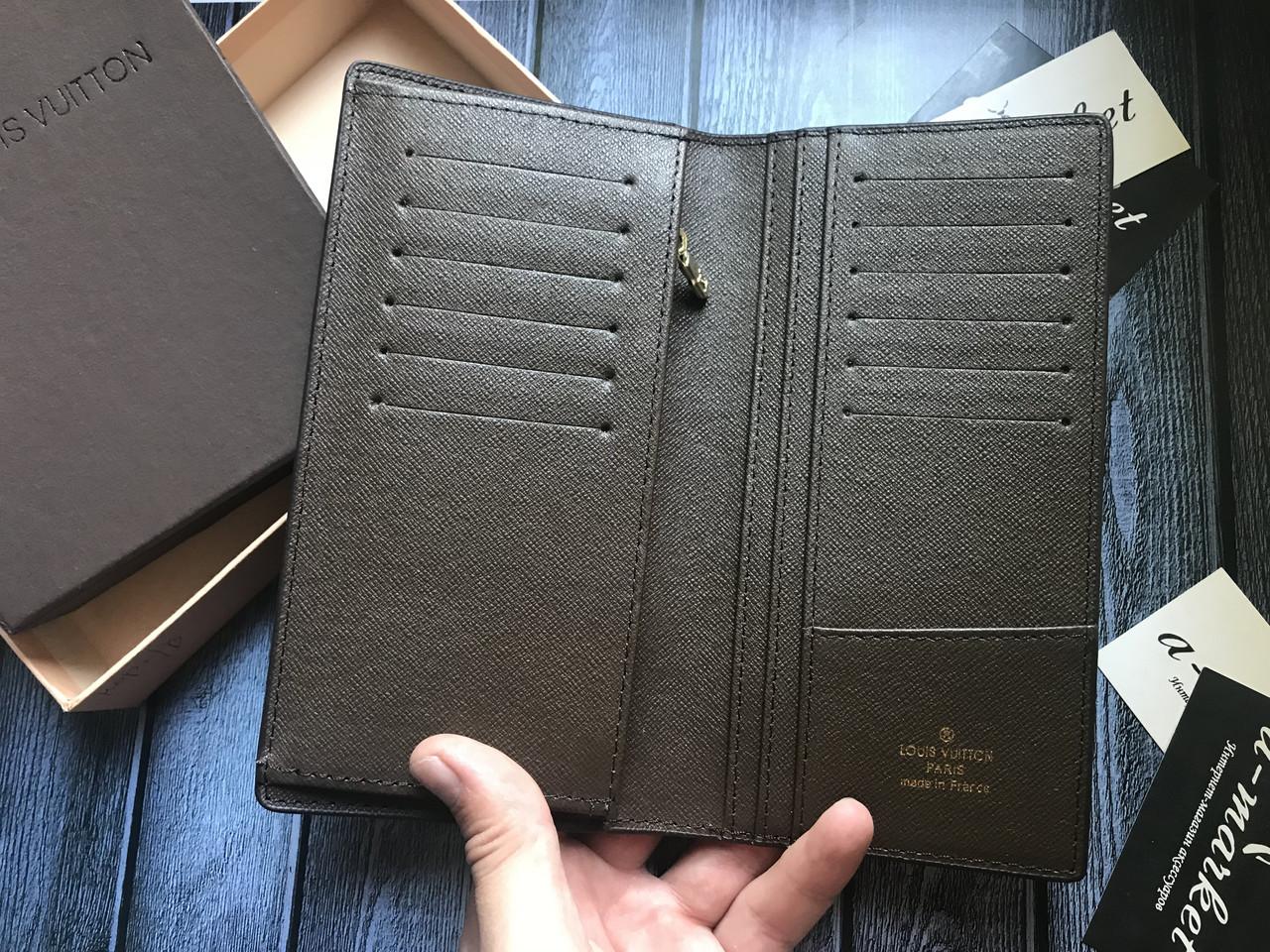 12659ba745d8 ... Органайзер кошелек клатч портмоне бумажник коричневый мужской женский  Louis Vuitton премиум реплика, ...