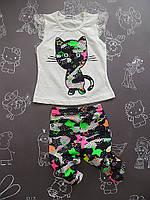 Детский летний костюм Кошечка для девочки на 2-4 года