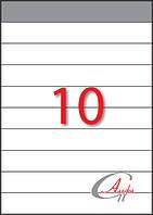 Этикетки самоклеющиеся формат А4, этикеток на листе 10, размер 210х29,7 мм
