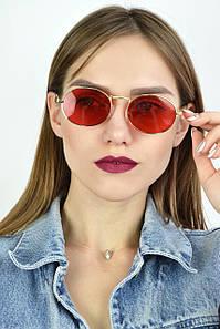 Солнцезащитные очки ретро луна красные