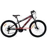 Подростковый велосипед Azimut Extreme 24 GD черно-красный