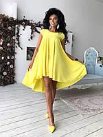 Современное платье в желтой расцветке, фото 1