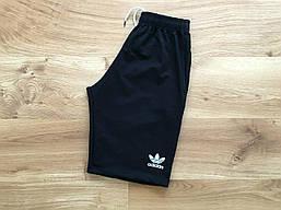 Чоловічі шорти Adidas бавовняні спортивні шорти в стилі адідас чорного кольору