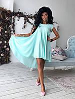 Легкое воздушное платье в ментоловом цвете, фото 1