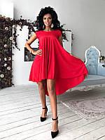 Асимметричное летнее платье из шикарной новой коллекции, фото 1