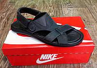 Мужские сандалии Timberland натур. кожа черные реплика (размеры в описании)