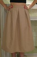 Женская юбка длины миди, юбка миди в складку. Размеры норма, цвета в ассортименте., фото 1