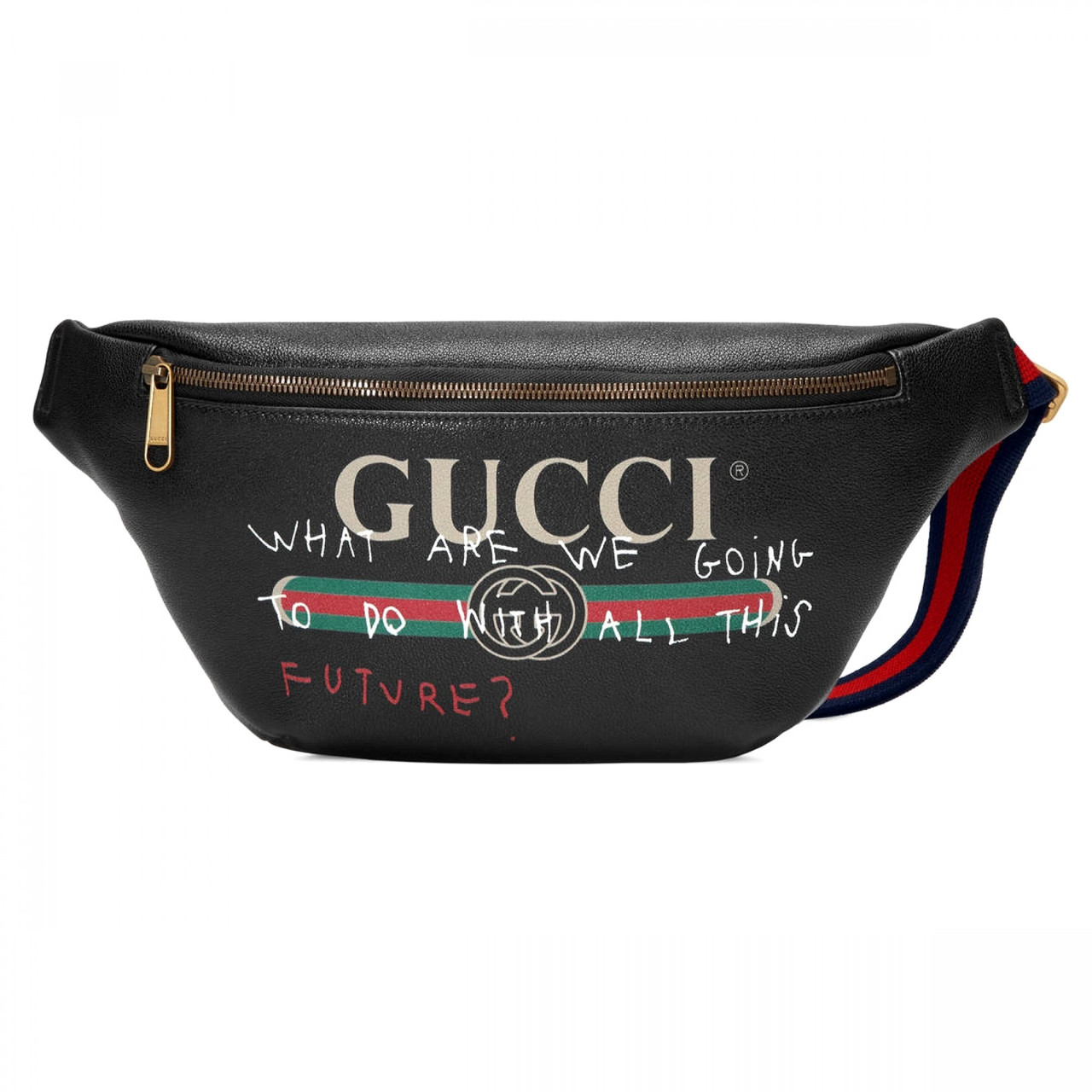 7b16d658646e Сумка на пояс бананка брендовая Gucci черная мужская женская копия высокого  качества - AMARKET - Интернет