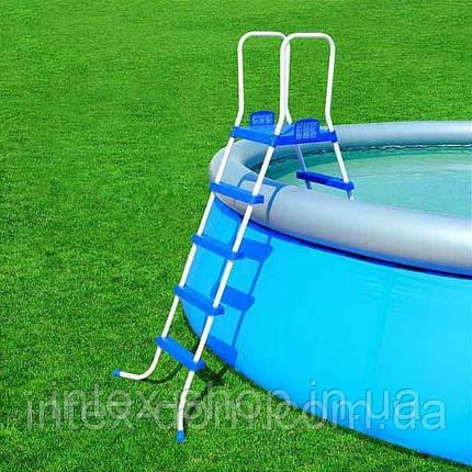 Каркасный бассейн Bestway 56245A+Лестница для бассейна Bestway (356x102 см.), фото 2