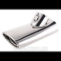"Насадка на глушитель для автомобиля ""Chrome"" (НГ-0089), диаметр 2.6'' x 4.2"", для Mercedes-Benz W220, наконечник на глушитель, насадка для глушителя"