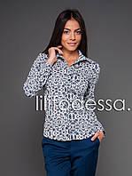 Рубашка с принтом белый/тёмно-синий