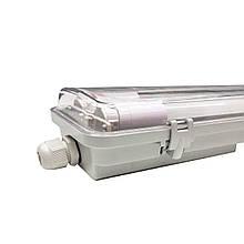 Промышленный светильник с лампами 6400K 2*1200мм IP65 EVRO-LED-SH-40 SLIM