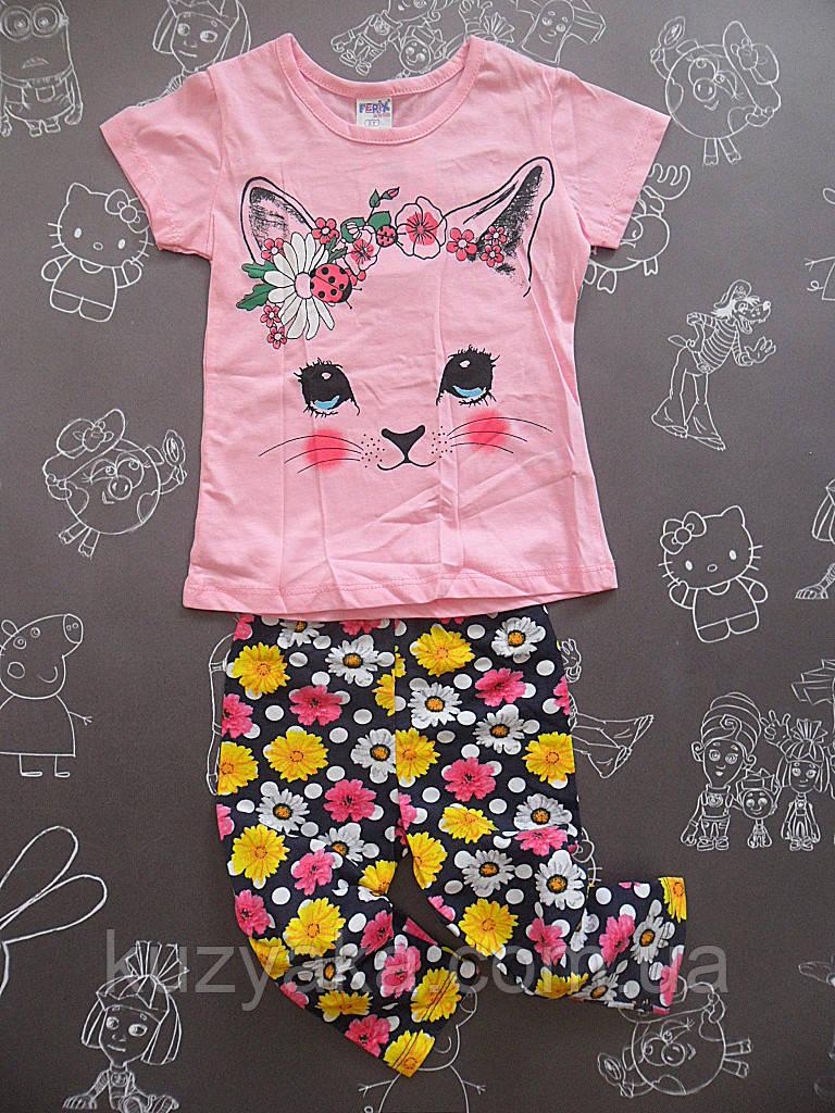 Детский летний костюм Мурочка для девочки на 3 года