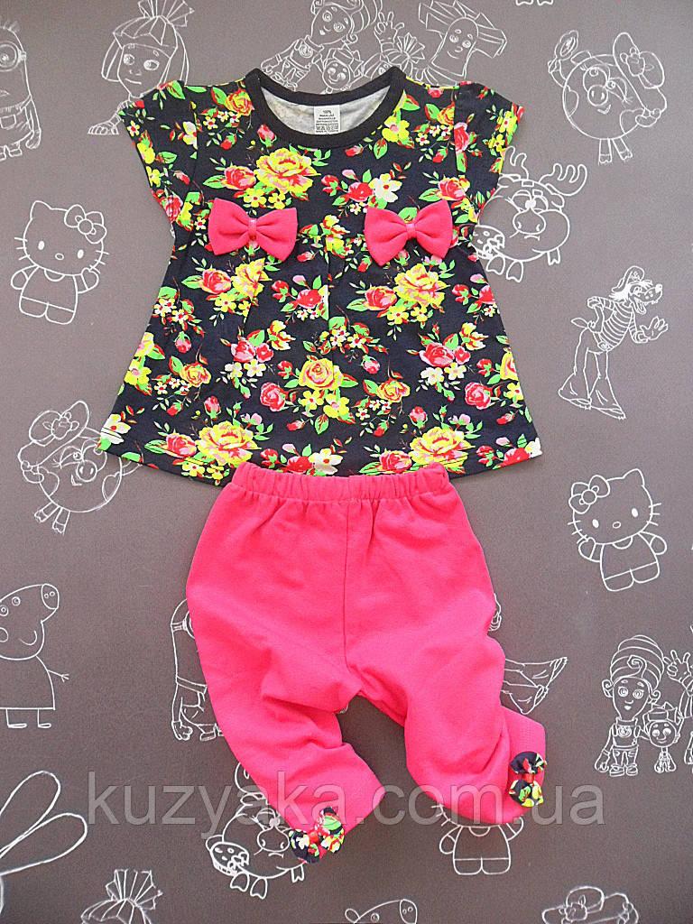 Детский летний костюм Цветы для девочки на 2-3 года