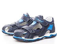 Босоножки, сандалии кожаные для мальчика р.31-36 ТM Clibee F229 blue - moon blue