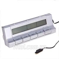 Термометр внутренний, наружный, часы, подсветка VST 7037, Часы для авто, Часы автомобильные, Автомобильный термометр, Электронные часы