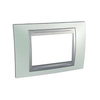 Рамка 3-мод. Unica Schneider Изумрудный/Алюминий, MGU66.103.094