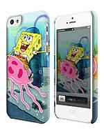 Чехол для iPhone 4/4s/5/5s/5с спанч боб охота на медуз sponge bob