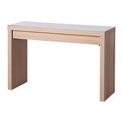 Туалетный столик IKEA MALM 120x41 см дубовый шпон беленый 004.075.75