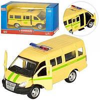 """Модель автобус PLAY SMART 6404F """"Автопарк"""" метал.инерц.откр.дв.кор.14,5*5,7*7 ш.к./108/"""