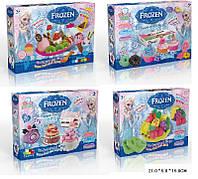 "Набор для творчества DN828FZ-1/2/3/4 Frozen,""Десерты"",4 вида,пластилин 6 цв,в кор.21*5*15см"