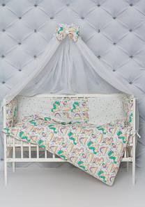 Постельные комплекты в кроватку для новорожденных