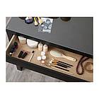 Туалетный столик IKEA MALM 120x41 см черно-коричневый 803.326.56, фото 3