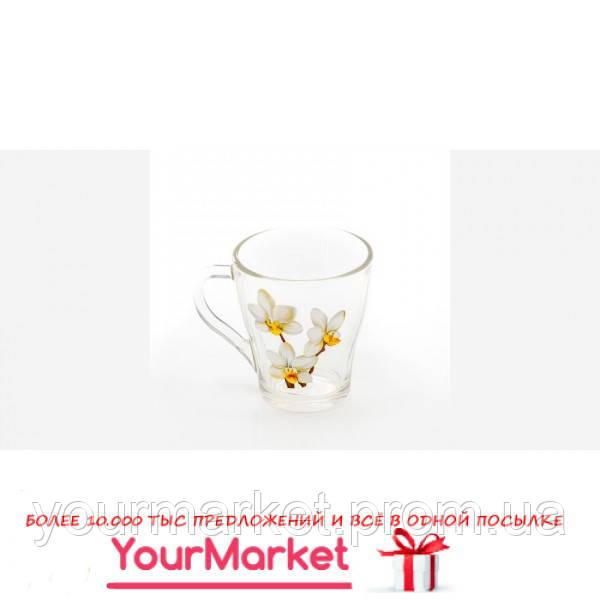 86003093, Кружка Грация Белая орхидея 250 мл в подар.уп