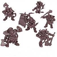 Аборигены крепости Молодых Ростков Бронепехота набор воинов (цвет красно-коричневый), Технолог (473)