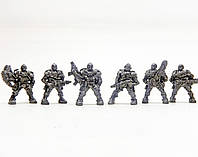 Киберспецназ Бронепехота набор воинов (цвет металлик), Технолог (435)