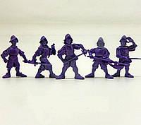 Набор воинов Батальйон Еспада (5 воинов/ цвет бузиновый) Технолог (305)